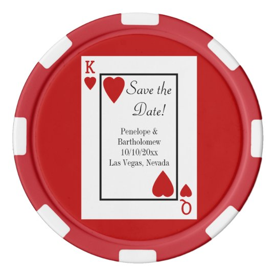 Playing Card King/Queen Save the Date Favour Poker