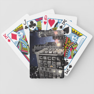 playing card, photograph of city the night bicycle playing cards