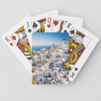 Playing card Santorini