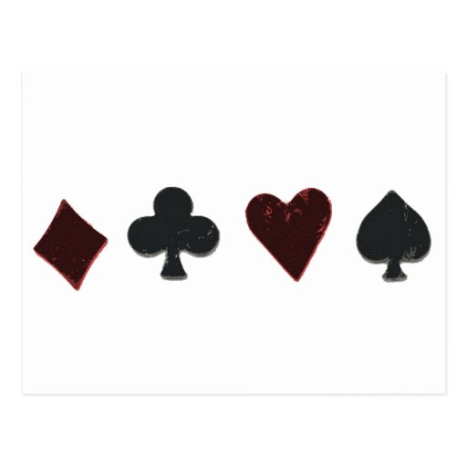 Playing Card Suit Row Post Cards