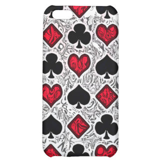 PLAYING CARD SUITS CASE FOR iPhone 5C