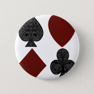 Playing Card Suits Design 6 Cm Round Badge