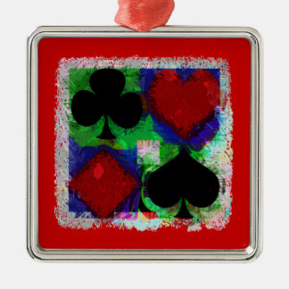 PLAYING CARD SUITS DESIGN Ornament