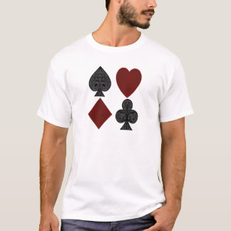 Playing Card Suits Design T-Shirt