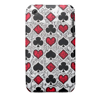 PLAYING CARD SUITS iPhone 3 Case-Mate Case