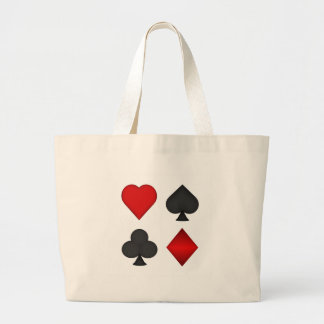 Playing Card Suits: Large Tote Bag