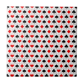 Playing card suits pattern small square tile