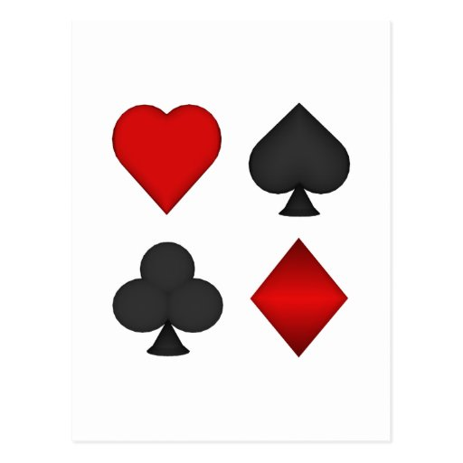 Playing Card Suits: Post Card
