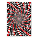 Playing Card Suits Spiral: