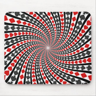 Playing Card Suits Spiral: Custom Mousepad