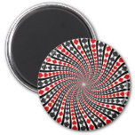 Playing Card Suits Spiral: Refrigerator Magnets