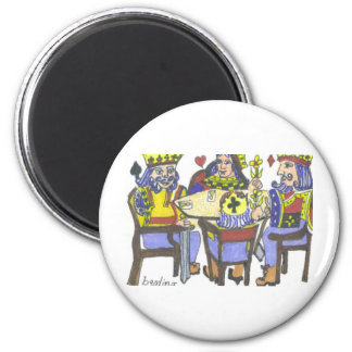 Playing Cards 6 Cm Round Magnet