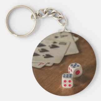 Playing Cards and Dice Keychain/Keyring Key Ring