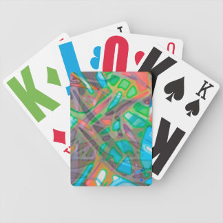 Playing Cards Colorful Stained Glass