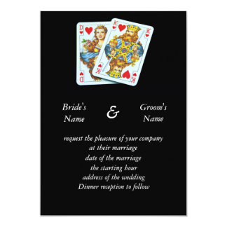 Playing cards couple wedding invitation