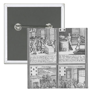 Playing Cards depicting current commercial 15 Cm Square Badge