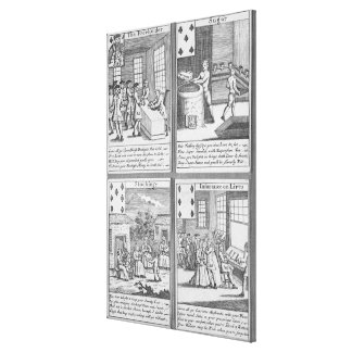 Playing Cards depicting current commercial Canvas Prints
