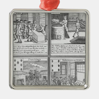 Playing Cards depicting current commercial Christmas Ornament