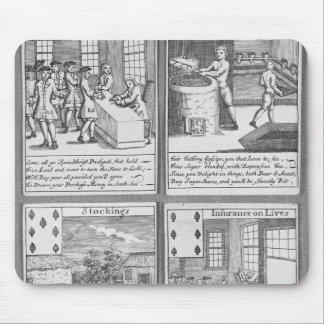 Playing Cards depicting current commercial Mouse Mat