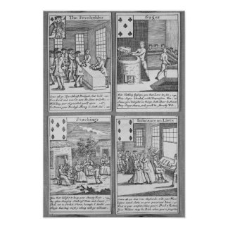Playing Cards depicting current commercial Poster