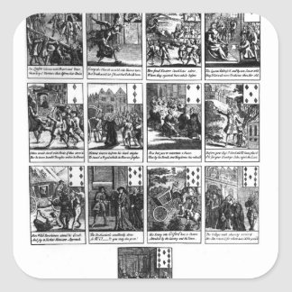 Playing cards depicting the impeachment square sticker