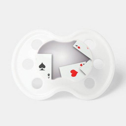 PLAYING CARDS GAMES POKER BLACKJACK GAMBLING GOFIS BABY PACIFIER