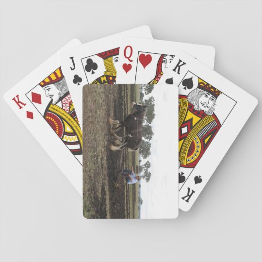 Playing cards horse & plough