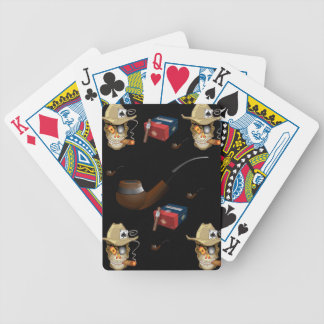 Playing cards man cave black cigar for him