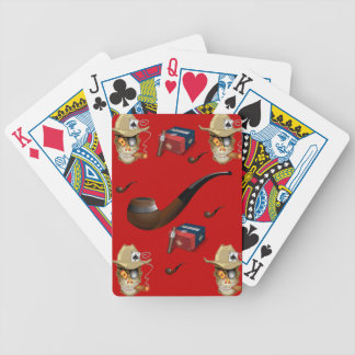 Playing cards man cave red cigar for him