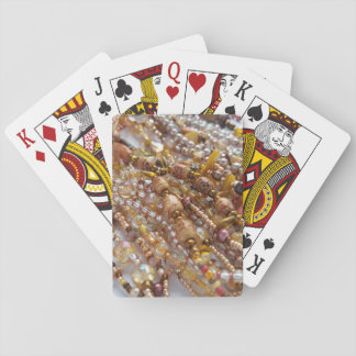 Playing Cards- Natural Earthtones Beads Print Poker Deck