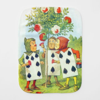 Playing Cards Painting the Rose Bush Burp Cloth