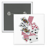 Playing Cards - Play To Win - Lucky Charms Pinback Button