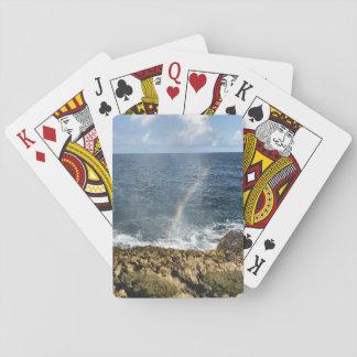 Playing cards rain arc.