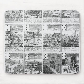 """Playing cards satirizing """"bubble"""" ventures mouse mat"""