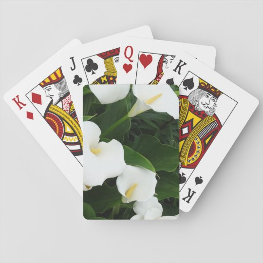 Playing Cards White Lillium Flowers