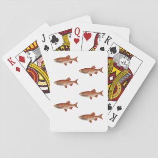 PLAYING CARDS WITH FISH LOGO