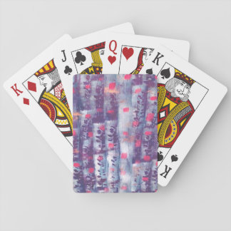playing cards with leaf design