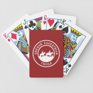 Playing cards with logo