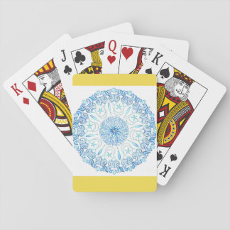 Playing cards with mandala design