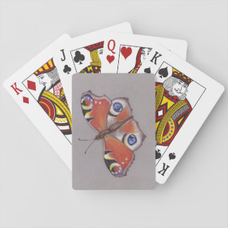 Playing Cards with Peacock Butterfly Design
