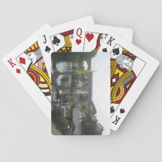 Playing Cards With River and Viaduct Picture