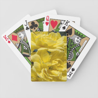 Playing Cards with Yellow Roses