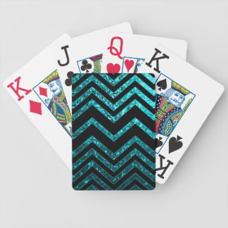 Playing Cards Zig Zag Sparkley Texture