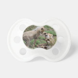 Playing Cheetah Cubs Baby Pacifier