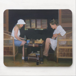 Playing Chess at Goldeneye Mouse Pad