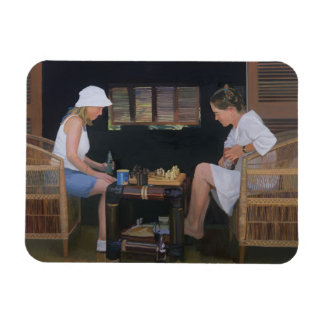 Playing Chess at Goldeneye Rectangular Photo Magnet