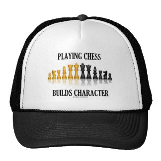 Playing Chess Builds Character (Reflective Chess) Hat