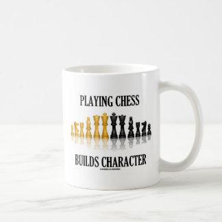 Playing Chess Builds Character (Reflective Chess) Mug