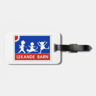 Playing Children, Traffic Sign, Sweden Bag Tags