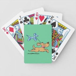 Playing Dog Bicycle Playing Cards